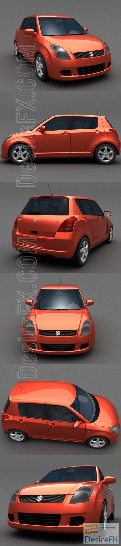 3d-models - Suzuki Swift 3D model