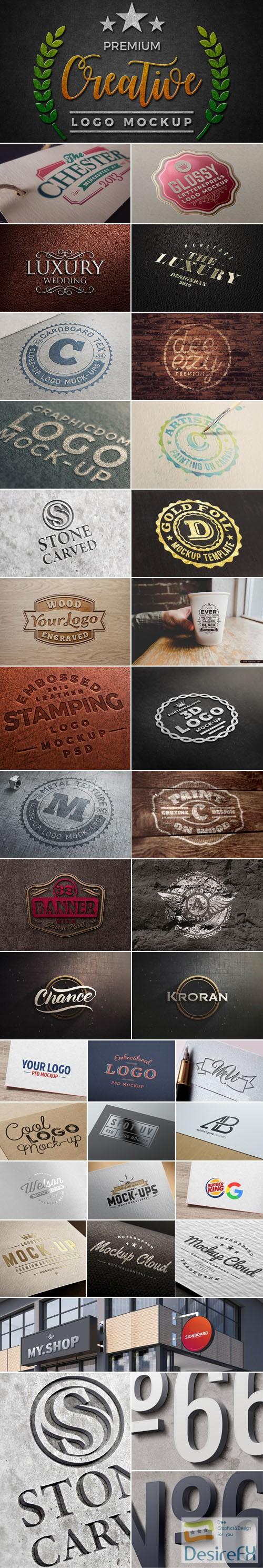 mock-up - 33 High Quality Logo PSD Mockups Collection