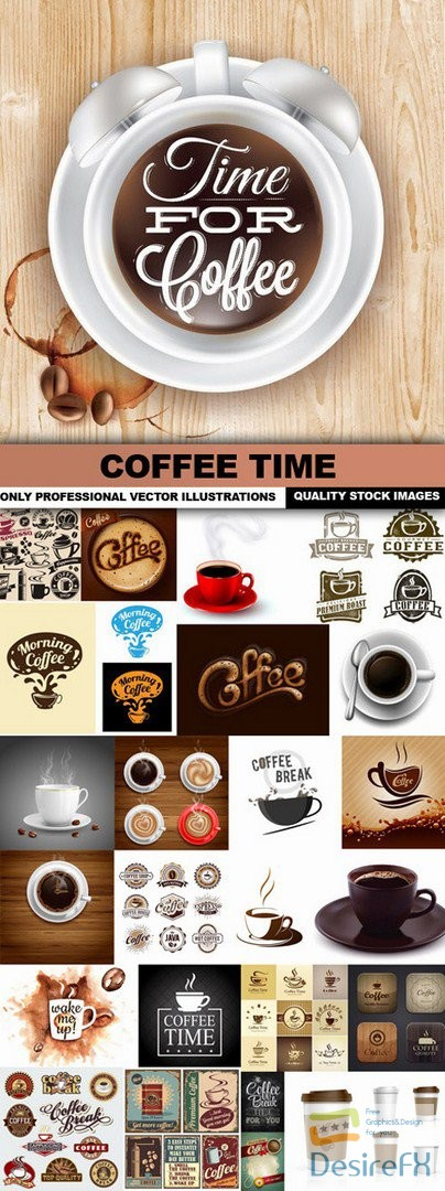 stock-vectors - Coffee Time - 25 Vector