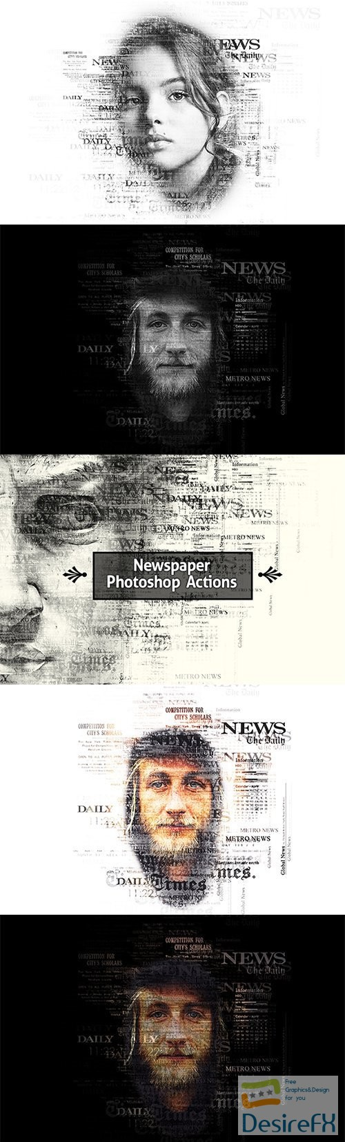 Newspaper Text Photoshop Action