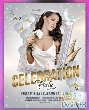 Celebration Party V38 2018 Flyer PSD Template