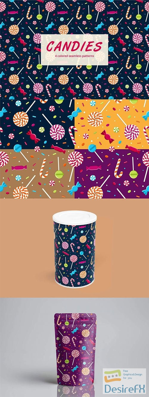stock-vectors - Candy Vector Seamless Pattern