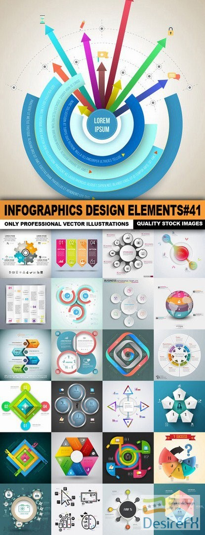 Infographics Design Elements#41 - 25 Vector