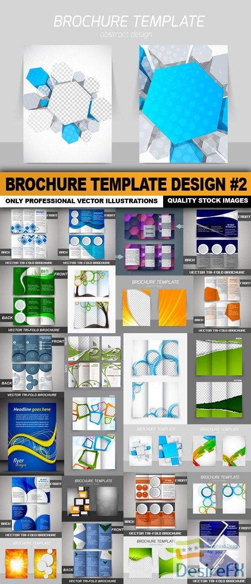 Brochure Template Design #2 - 25 Vector