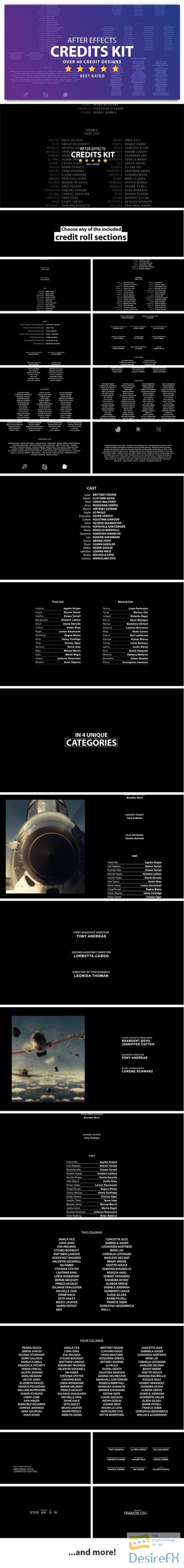 Videohive Cinema Film Credits Pack 8422154