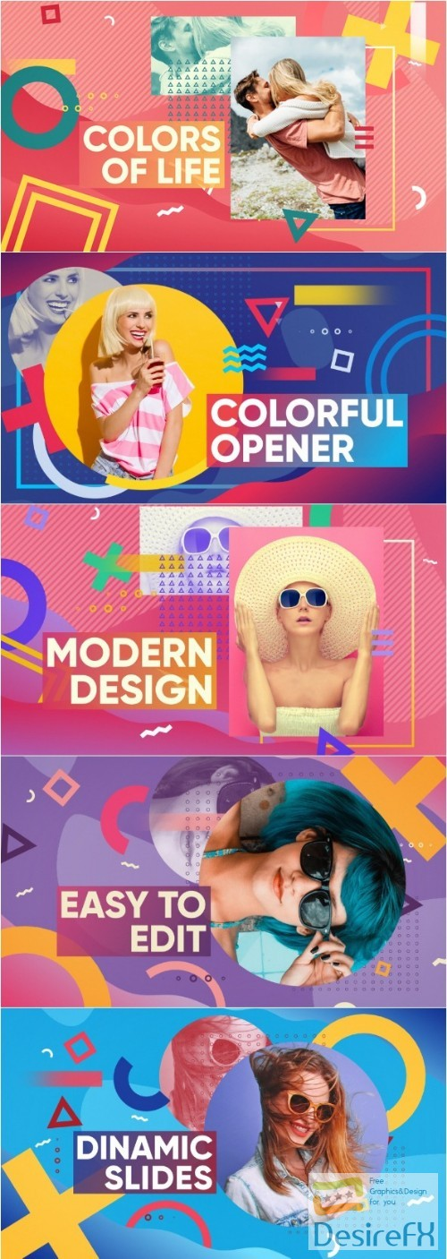Videohive Colorful Opener 22043954