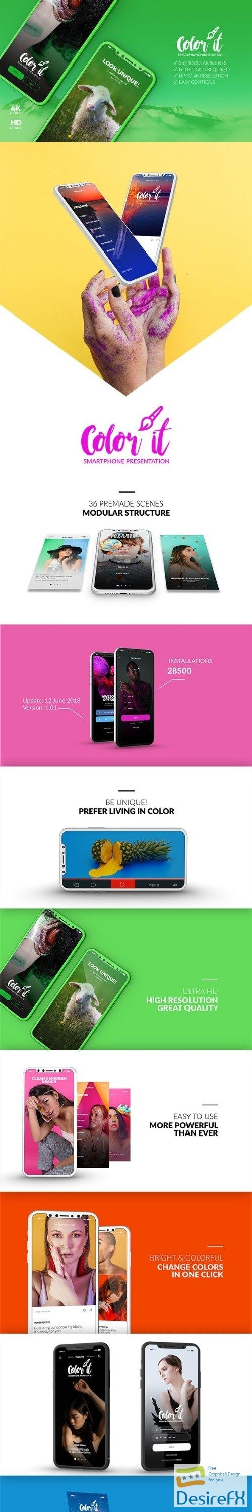 after-effects-projects - Videohive Color it - 3D Smartphone Presentation 22328414