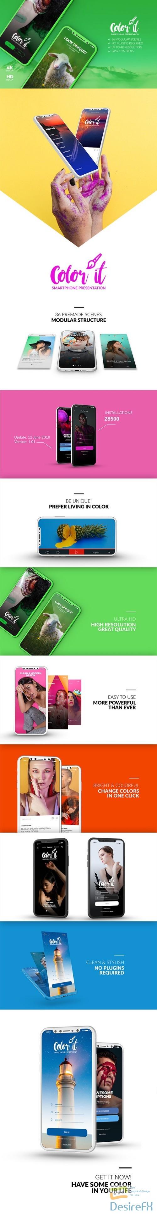 Videohive Color it - 3D Smartphone Presentation 22328414