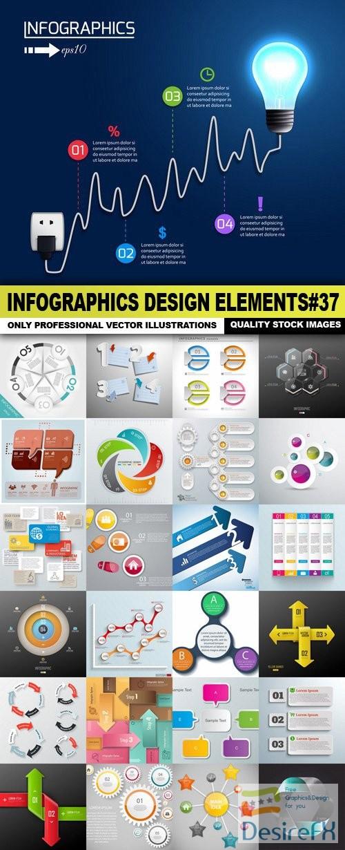 stock-vectors - Infographics Design Elements#37 - 25 Vector