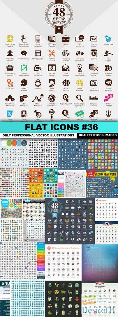stock-vectors - Flat Icons #36 - 25 Vectors