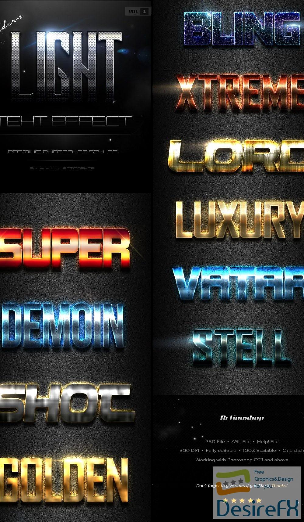 styles-asl - 10 Modern Light Text Effects Vol.1 19593145