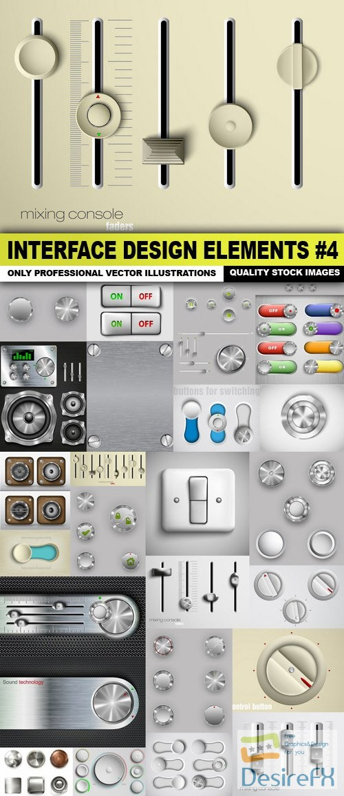 Interface Design Elements #4 - 25 Vector