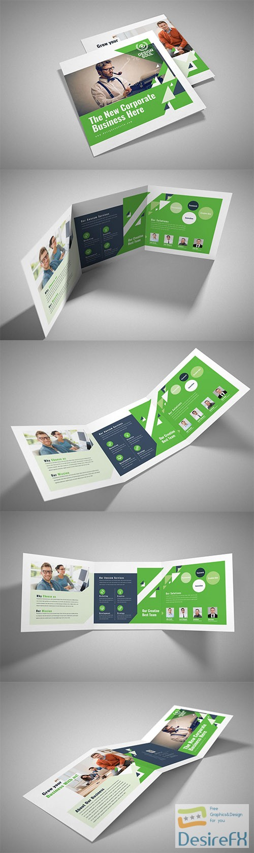 PSD Square Trifold Brochure