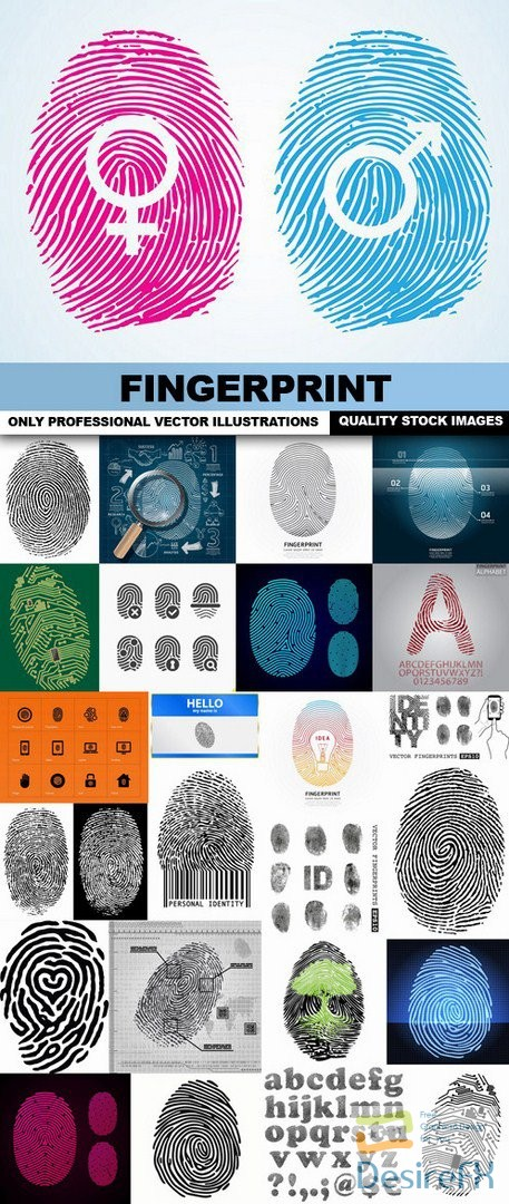 Fingerprint - 25 Vector