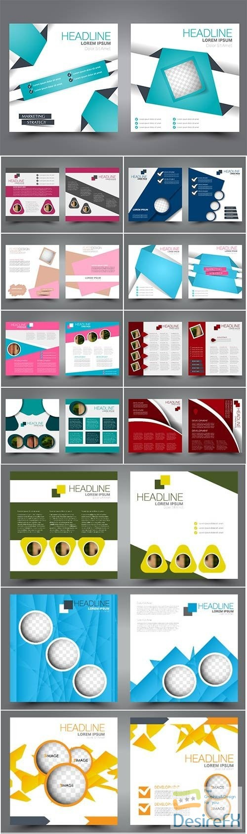 stock-vectors - Vector flyer template, brochure design for business and education