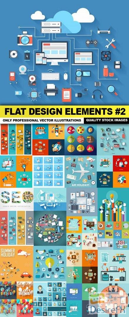 stock-vectors - Flat Design Elements #2 - 25 Vector