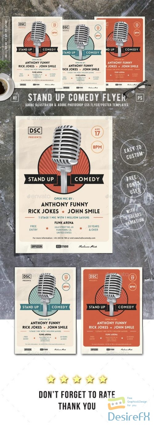 GR – Stand Up Comedy Flyer 17389047