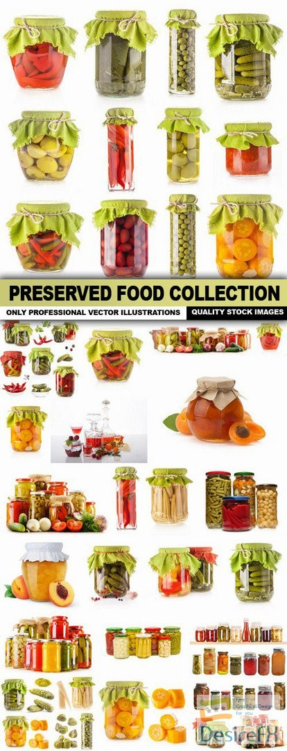 stock-images - Preserved Food Collection - 25 HQ Images