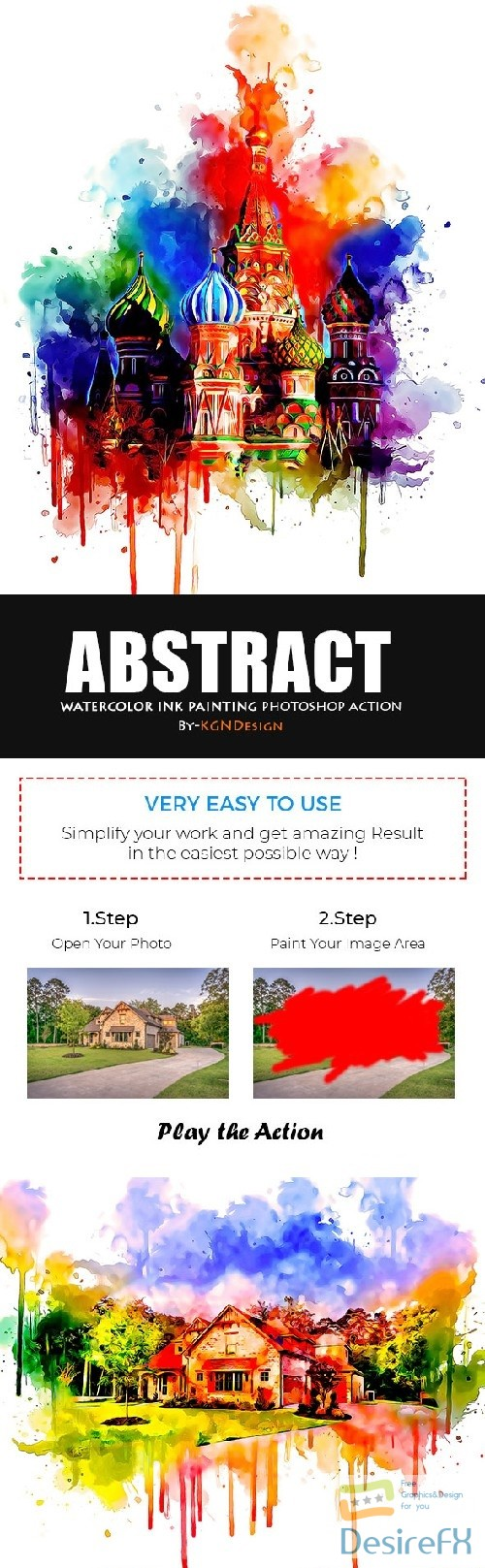 actions-atn - Abstract Watercolor Ink Painting Photoshop Action 22415219