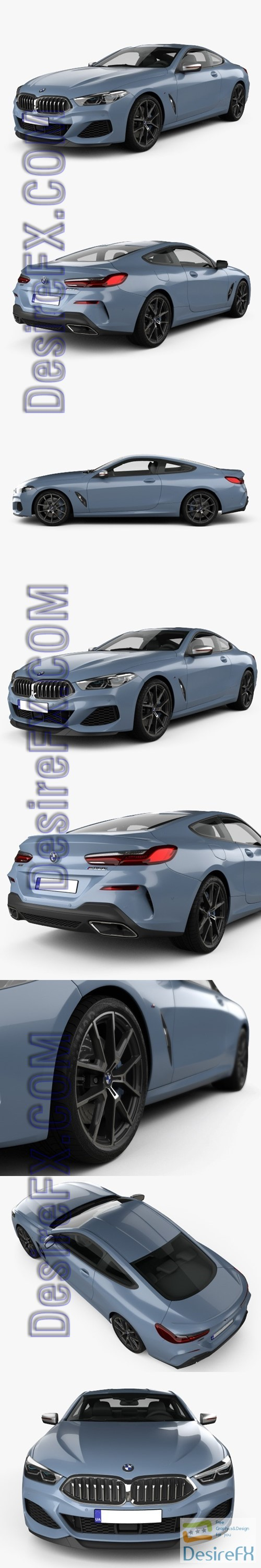 BMW 8-Series M850i coupe 2019 3D Model