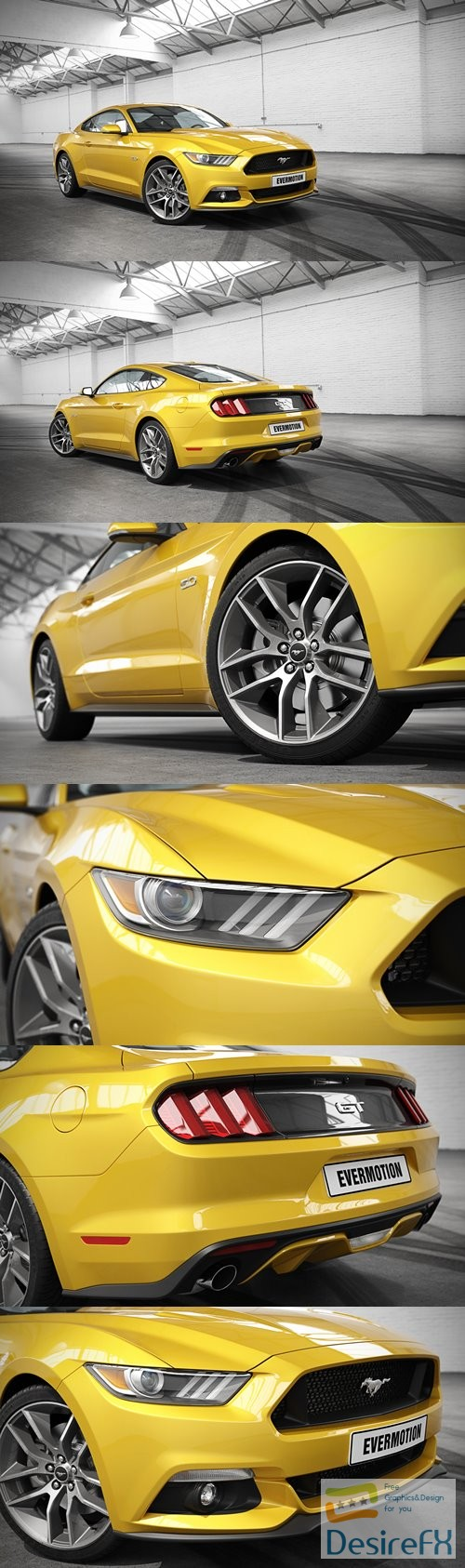 Ford Mustang GT Evermotion 3D Model