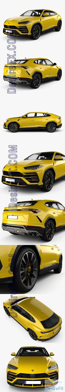 3d-models - Lamborghini Urus 2019 3D Model