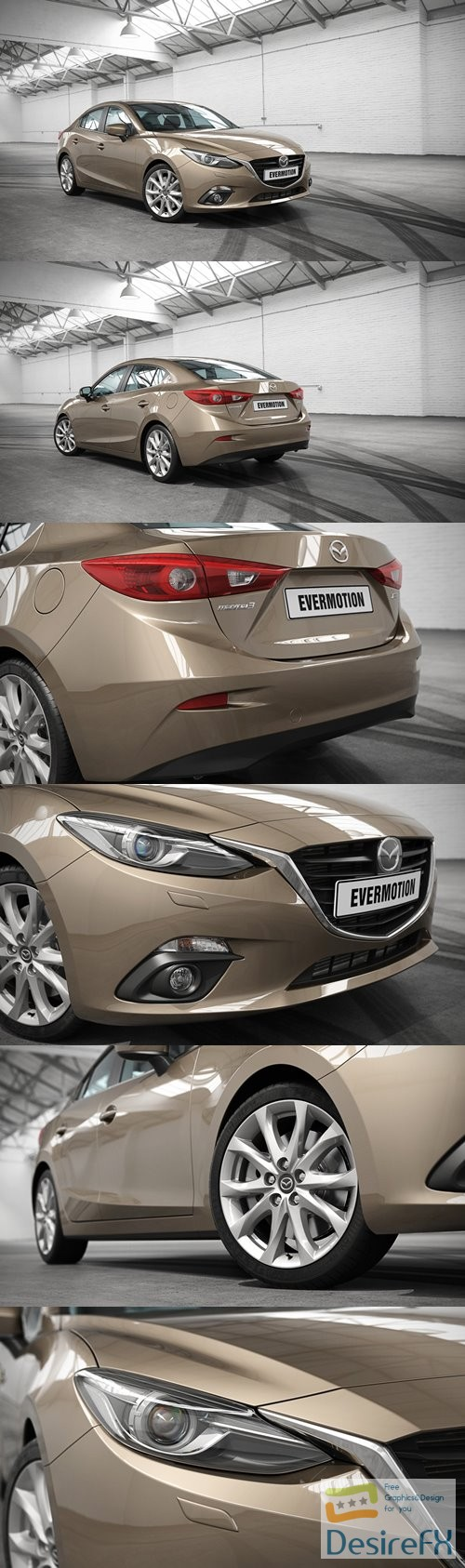 Mazda 3 2018 Evermotion 3D Model