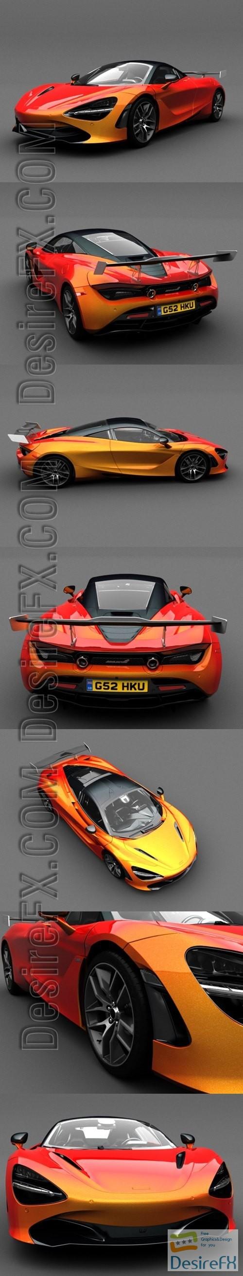 3d-models - McLaren 720S 2018 3D Model