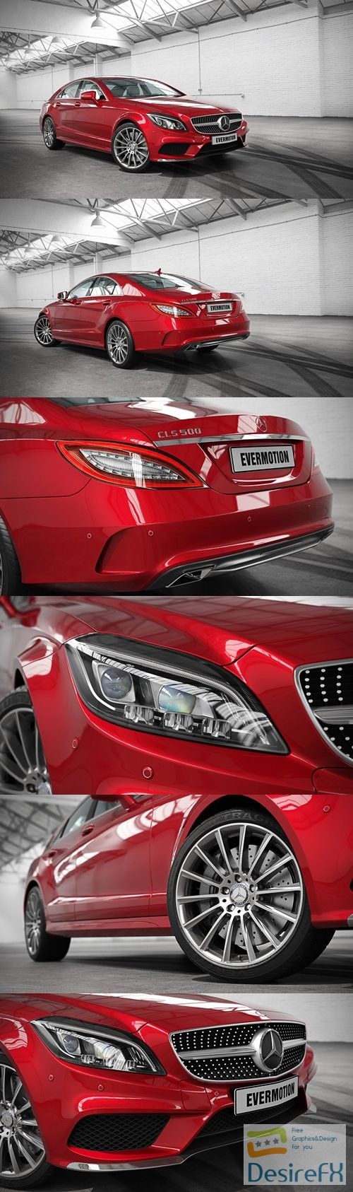 Mercedes-Benz CLS 500 Evermotion 3D Model