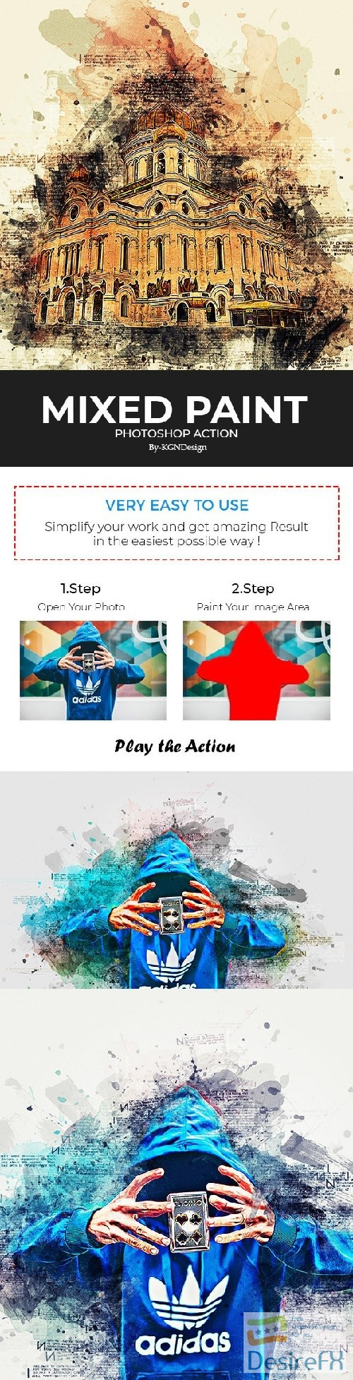 Mixed Paint Photoshop Action 22335350