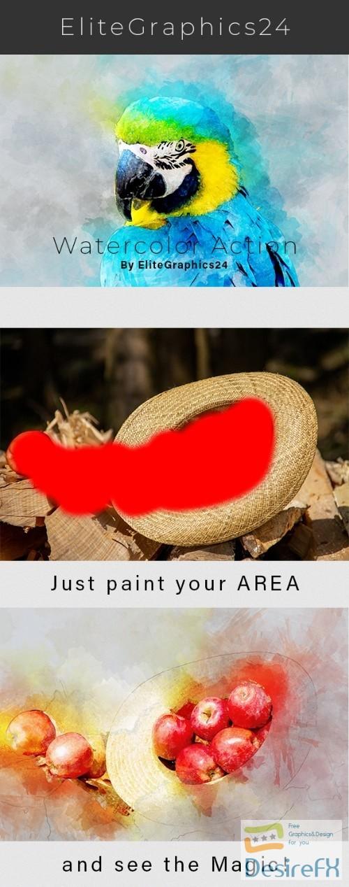 Realistic Watercolor Photoshop Action 22342745