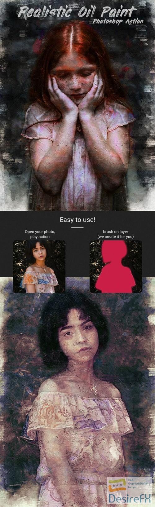 Realistic Oil Paint Photoshop Action 22414905