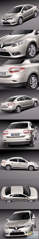 3d-models - Renault Fluence 2013 3D Model