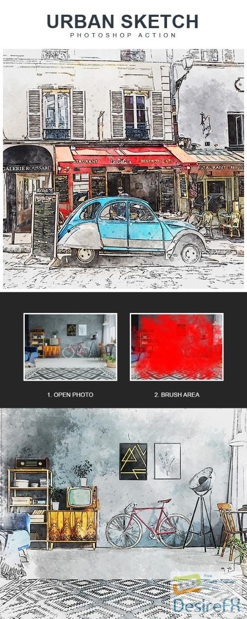 Urban Sketch - Photoshop Action 22430558