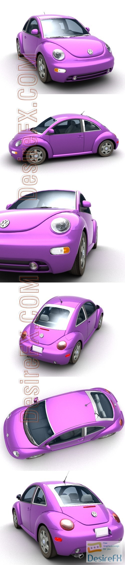 3d-models - Volkswagen Beetle 3D Model