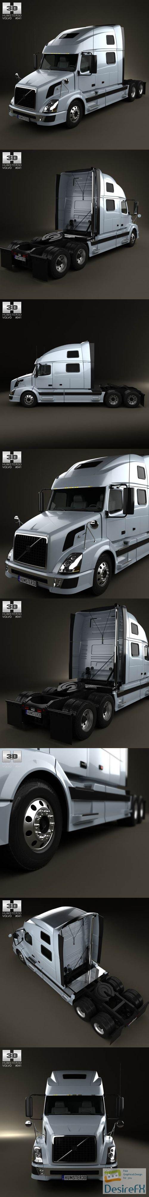 3d-models - Volvo VNL Tractor Truck 2002 3D Model