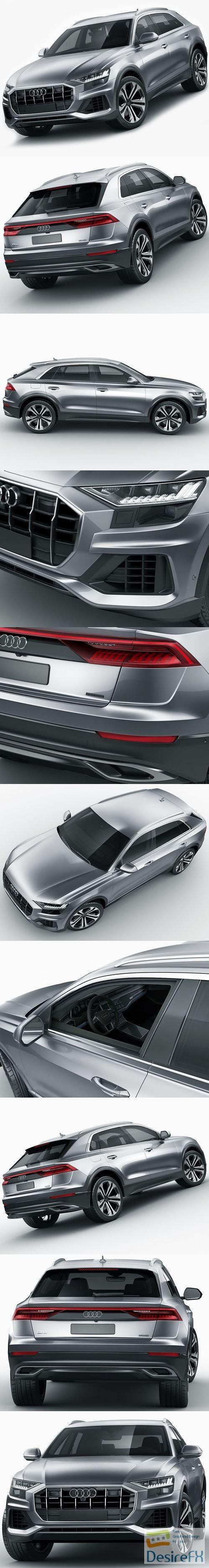 Audi Q8 2019 3D Model