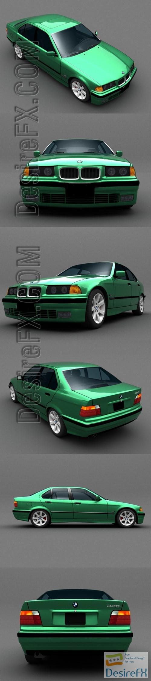 BMW 320i 3D Model