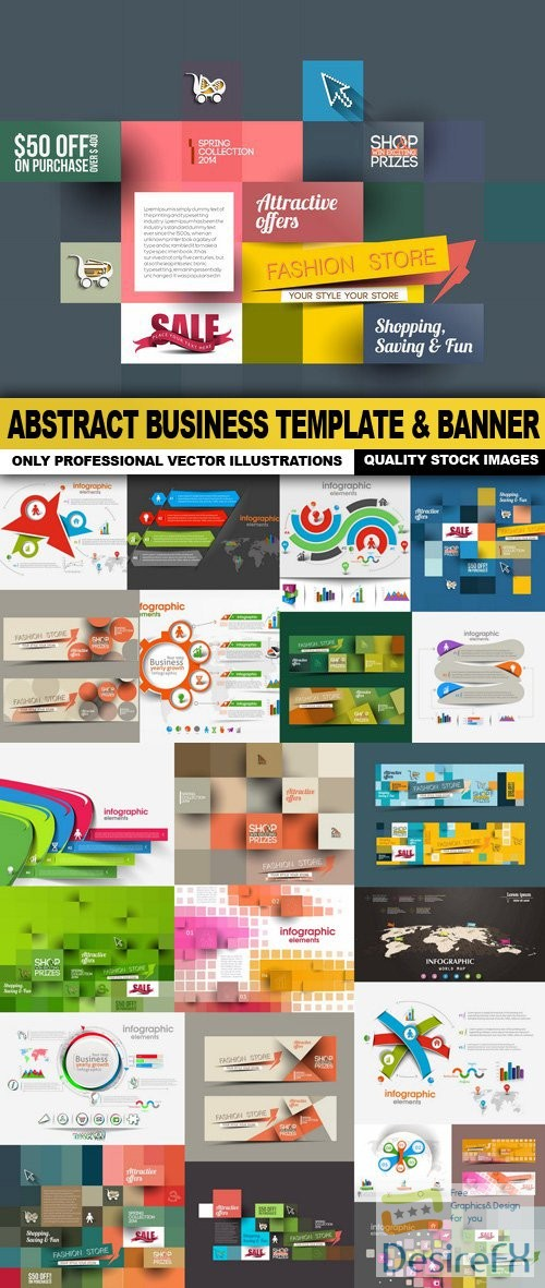 stock-vectors - Abstract Business Template & Banner - 25 Vector