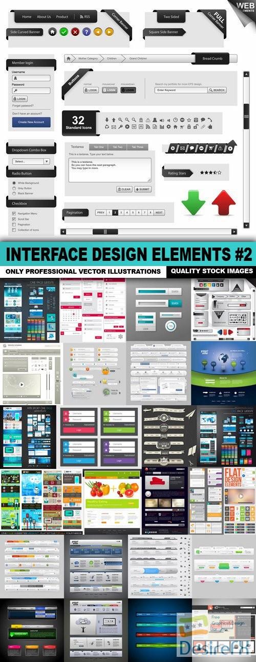 stock-vectors - Interface Design Elements #2 - 25 Vector