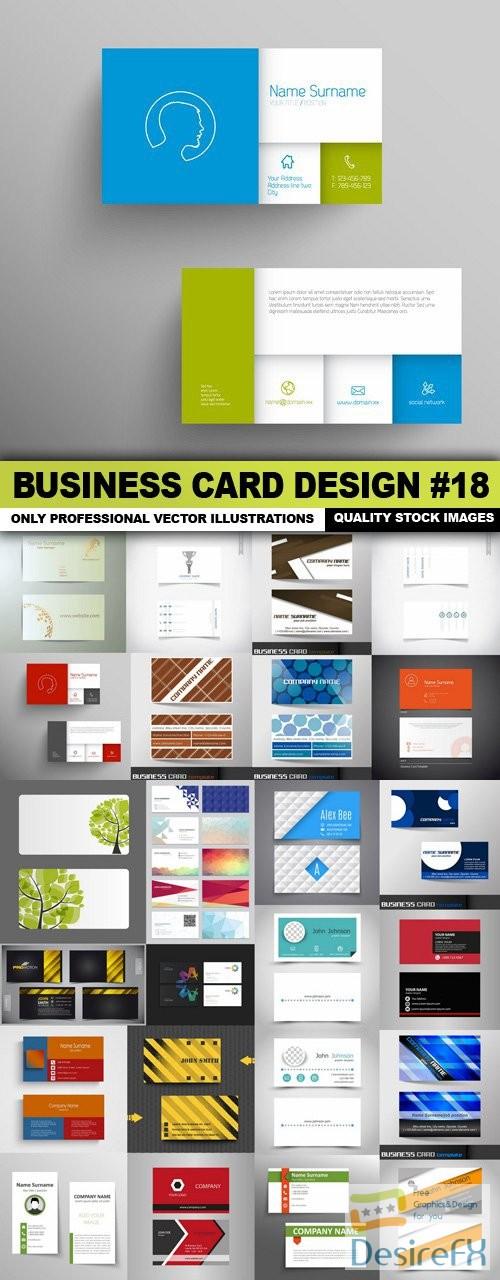 stock-vectors - Business Card Design #18 - 25 Vector