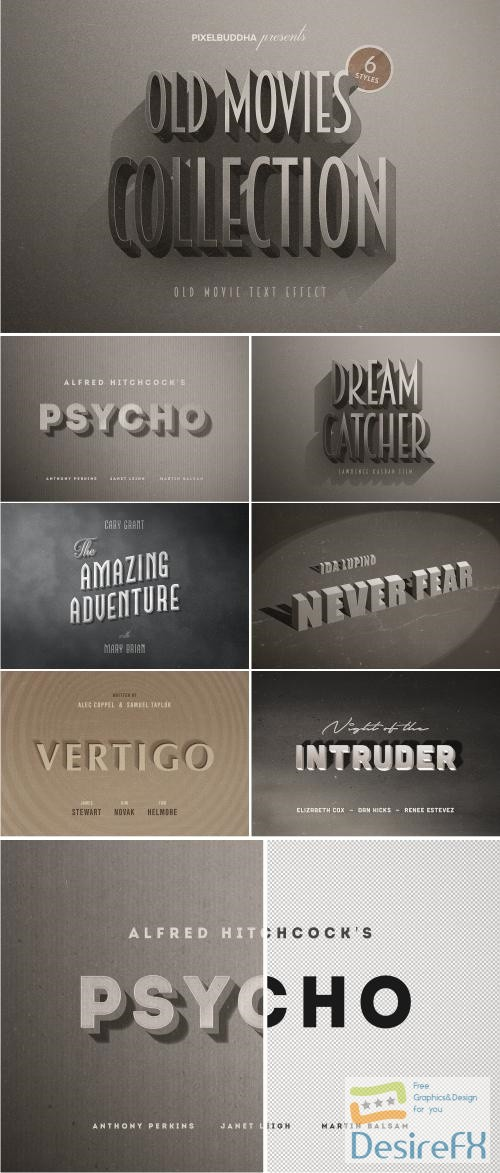 layered-psd - Old Movie Titles Collection - 2838766