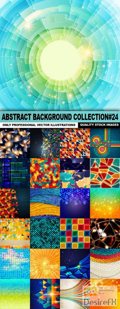 Abstract Background Collection#24 - 25 Vector