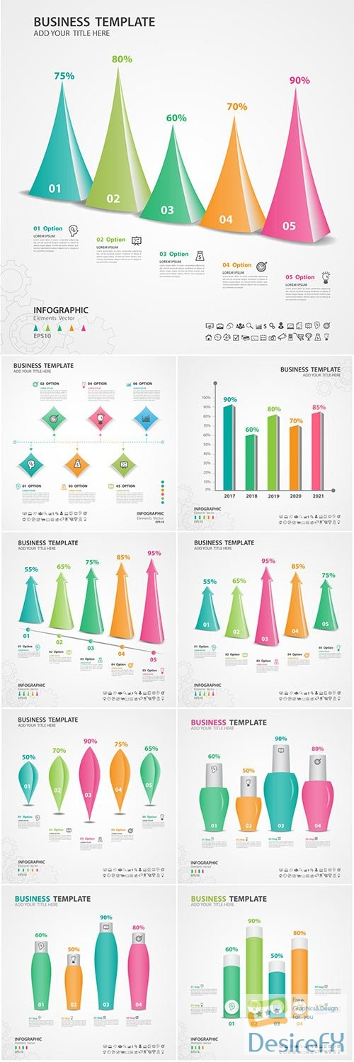 Infographics vector template for business presentations or information banner # 91