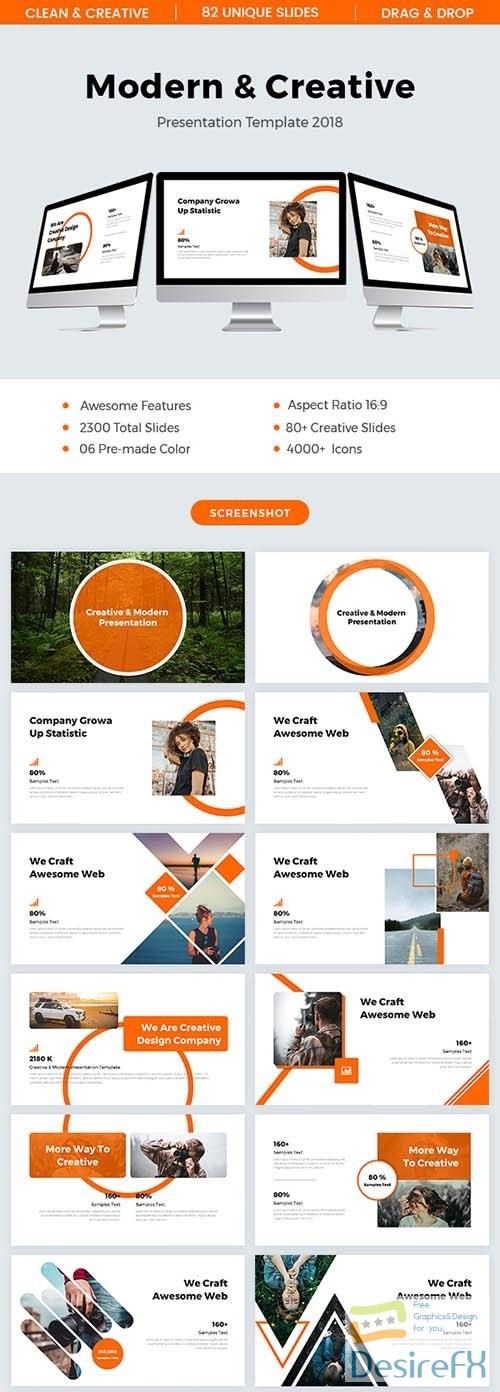 powerpoint - GR – Modern & Creative Powerpoint Template 2018 22380019