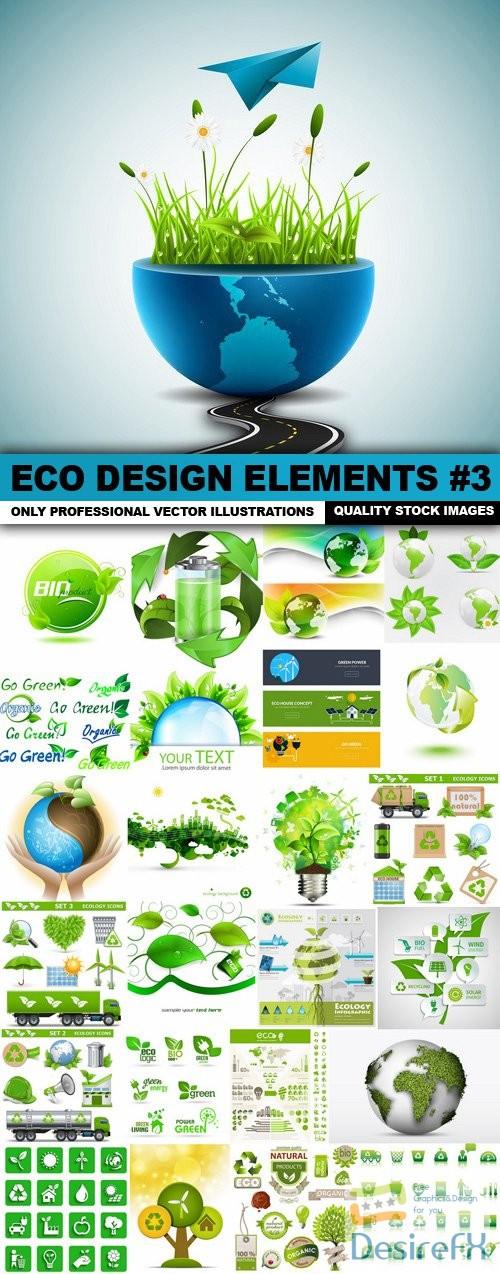 stock-vectors - ECO Design Elements #3 - 25 Vector