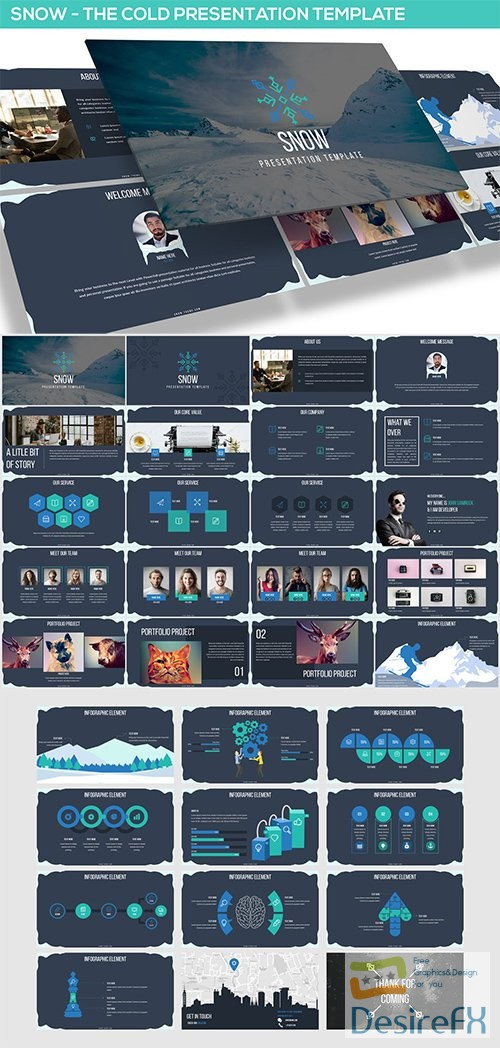 powerpoint - Snow Powerpoint Presentation Template