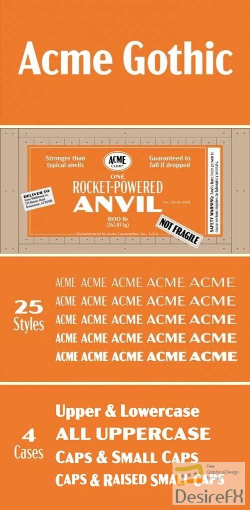 Acme Gothic Font Family