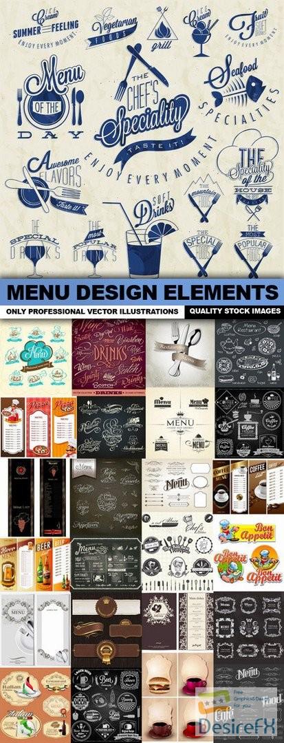 stock-vectors - Menu Design Elements - 25 Vector