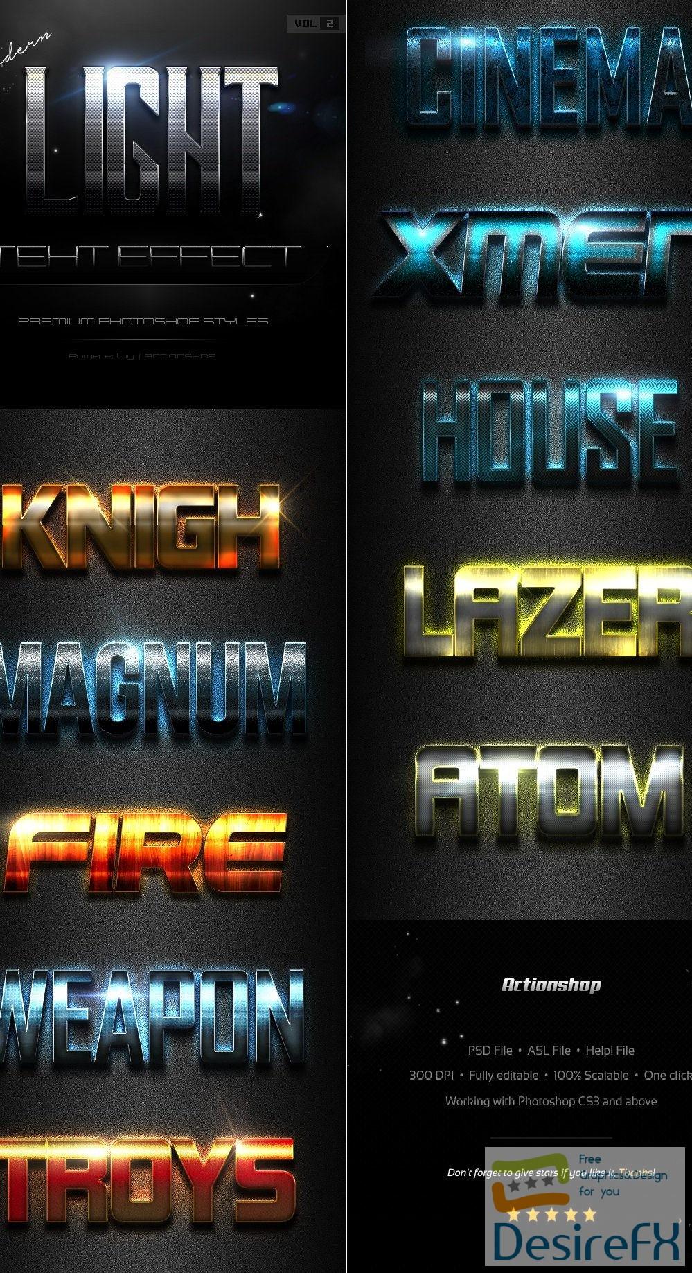 styles-asl - 10 Modern Light Text Effects Vol.2 19634638